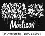 marker graffiti font ... | Shutterstock .eps vector #1097131997