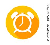 alarm clock flat icon vector | Shutterstock .eps vector #1097137403