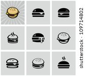 Hamburger icons set - stock vector