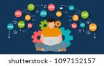 programming and coding banner ... | Shutterstock .eps vector #1097152157