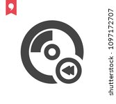 cd previous icon | Shutterstock .eps vector #1097172707