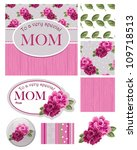 floral vector greeting card and ... | Shutterstock .eps vector #109718513