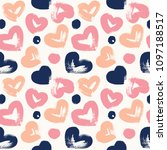 seamless background with hearts ...   Shutterstock .eps vector #1097188517