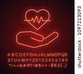 heart care neon light icon....   Shutterstock .eps vector #1097213093