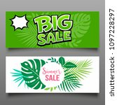 vector banner big sale and... | Shutterstock .eps vector #1097228297