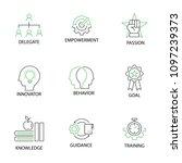 modern flat thin line icon set... | Shutterstock .eps vector #1097239373
