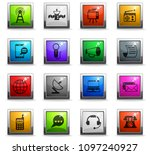 media vector icons in square... | Shutterstock .eps vector #1097240927