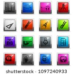 measuring tools web icons in... | Shutterstock .eps vector #1097240933
