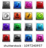 social media vector icons in... | Shutterstock .eps vector #1097240957