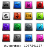 navigation vector icons in... | Shutterstock .eps vector #1097241137