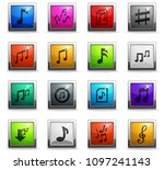 musical notes web icons in... | Shutterstock .eps vector #1097241143