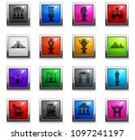 monuments web icons in square... | Shutterstock .eps vector #1097241197