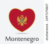 montenegro flag in heart shape   Shutterstock .eps vector #1097270837