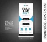 roll up banner design template  ... | Shutterstock .eps vector #1097271623