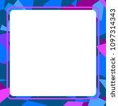 frame art colorful design...   Shutterstock .eps vector #1097314343