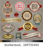 vintage and retro vector design ... | Shutterstock .eps vector #109731443