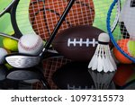 assorted sports equipment | Shutterstock . vector #1097315573