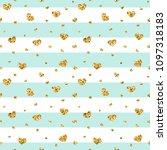 gold heart seamless pattern....   Shutterstock .eps vector #1097318183
