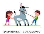 smiling preschool kids boy... | Shutterstock .eps vector #1097320997