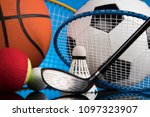 sport equipment and balls | Shutterstock . vector #1097323907