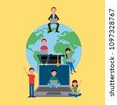 learning online education | Shutterstock .eps vector #1097328767