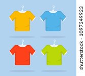 t shirt template  model with... | Shutterstock .eps vector #1097349923