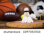 sport equipment and balls ... | Shutterstock . vector #1097352533