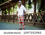 stylish african american man in ... | Shutterstock . vector #1097352983