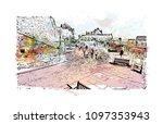 edinburgh castle is a historic... | Shutterstock .eps vector #1097353943