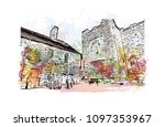 edinburgh castle is a historic... | Shutterstock .eps vector #1097353967
