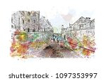 edinburgh castle is a historic... | Shutterstock .eps vector #1097353997