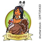 thanksgiving card  logo design... | Shutterstock .eps vector #109735433