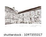 edinburgh castle is a historic... | Shutterstock .eps vector #1097355317
