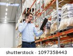 wholesale  logistic business ... | Shutterstock . vector #1097358443