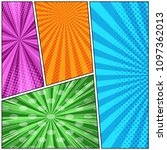 comic book page colorful... | Shutterstock .eps vector #1097362013