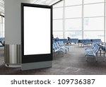 blank billboard in airport shot ... | Shutterstock . vector #109736387