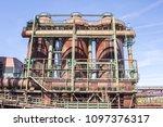 rusty industrial steel... | Shutterstock . vector #1097376317