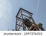 rusty industrial steel... | Shutterstock . vector #1097376323
