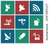 wireless icon. collection of 9... | Shutterstock .eps vector #1097395127