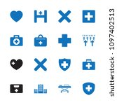 cross icon. collection of 16... | Shutterstock .eps vector #1097402513
