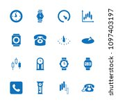 dial icon. collection of 16... | Shutterstock .eps vector #1097403197