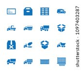 deliver icon. collection of 16... | Shutterstock .eps vector #1097403287