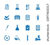 test icon. collection of 16... | Shutterstock .eps vector #1097403317
