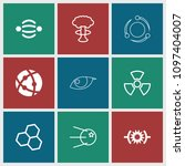 atom icon. collection of 9 atom ...   Shutterstock .eps vector #1097404007