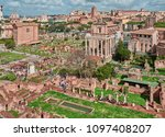 rome  ruins of the imperial... | Shutterstock . vector #1097408207