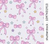 cute bow ties pattern design | Shutterstock .eps vector #1097431913