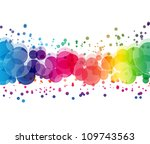 abstract on a colorful... | Shutterstock . vector #109743563