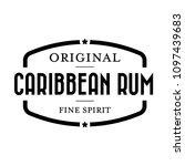 caribbean rum vintage stamp | Shutterstock .eps vector #1097439683