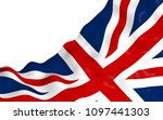 waving flag of the great... | Shutterstock . vector #1097441303