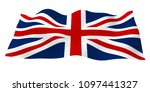 waving flag of the great... | Shutterstock . vector #1097441327